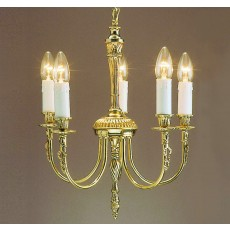 Impex Richmond 5 Light Pendant Light Polished Brass 15A