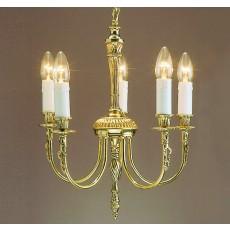 Impex Richmond 5 Light Pendant Light Polished Brass 15A