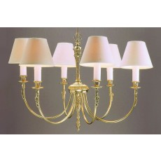 Impex Richmond 6 Light Pendant Light Polished Brass