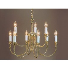 Impex Richmond 9 Light Pendant Light Polished Brass