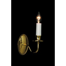 Impex Georgian 1 Light Wall Light Polished Brass
