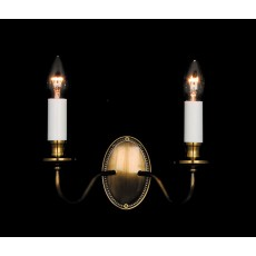 Impex Georgian 2 Light Wall Light Bronze