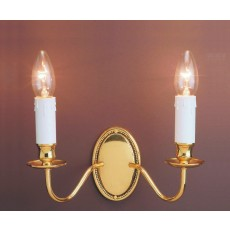 Impex Georgian 2 Light Wall Light Polished Brass