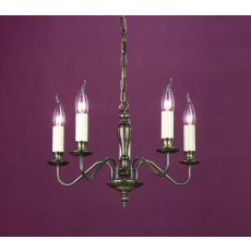 Impex Georgian 5 Light Pendant Light Bronze
