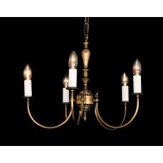 Impex Solar 5 Light Pendant Light Antique Brass