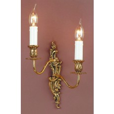 Impex Dauphine 2 Light Wall Light Polished Brass Al