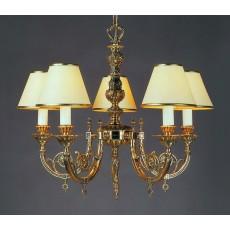 Impex Chelsea 5 Light Pendant Light Polished Brass