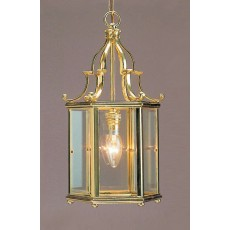 Impex Belgravia 1 Light Pendant Light Polished Brass