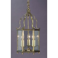 Impex Belgravia 3 Light Pendant Light Antique Brass