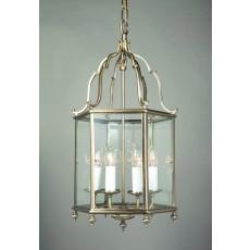 Impex Belgravia 6 Light Pendant Light Antique Brass