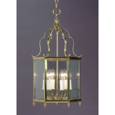 Impex Belgravia 6 Light Pendant Light Polished Brass