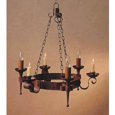 Impex Refectory 3 Light/3 Candle Aged Pendant Light
