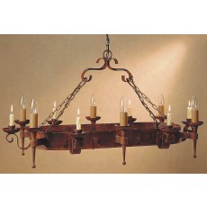 Impex Refectory 6 Light/6 Candle Oblong Pendant Light