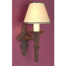 Impex Baronial 1 Light Wall Light Aged