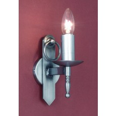 Impex Mitre 1 Light Wall Light Sterling