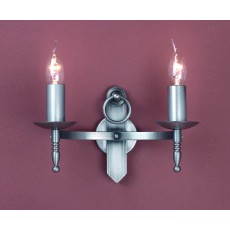 Impex Mitre 2 Light Wall Light Sterling
