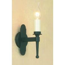 Impex Blenheim 1 Light Wall Light Matt Black