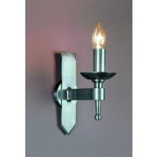 Impex Saxon 1 Light Wall Light Sterling