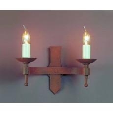Impex Saxon 2 Light Wall Light Aged
