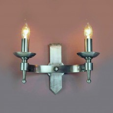 Impex Saxon 2 Light Wall Light Sterling