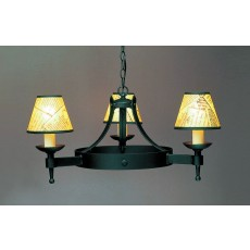 Impex Saxon 3 Light Pendant Light Matt Black
