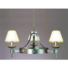Impex Saxon 3 Light Pendant Light Sterling