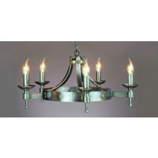 Impex Saxon 5 Light Pendant Light Sterling