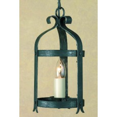 Impex Villa 1 Light Lantern Ant. Black