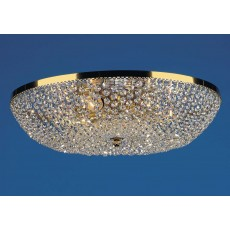 Impex Essen Gold Plated Flush Strass Pendant Light
