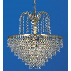 Impex Bonn Gold Plated Strass Tiered Pendant Light