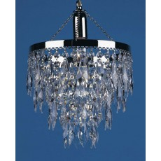 Impex Halle Nickel Plated Strass Pendant Light