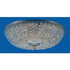 Impex Hanover Semiflush Pendant Light Strass Gold