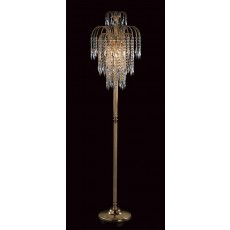 Impex Shower Long Chain Floor Lamp Gold
