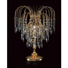 Impex Shower Long Chain Table Lamp Gold
