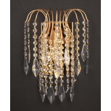 Impex Shower Long Chain Wall Light Gold