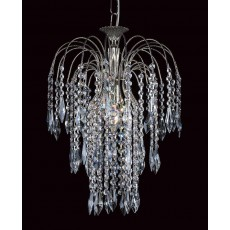 Impex Shower Long Chain Nickel Pendant Light