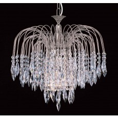 Impex Shower Strass Nickel Pendant Light