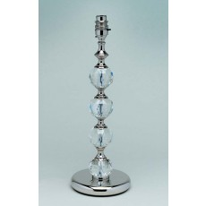 Impex Furth Optic Glass Table Lamp Nickel