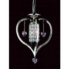 Impex Valentine Crystal Pendant Light Nickel