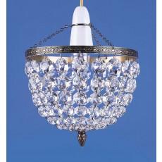 """Impex Kiel 8"""" Baguette Pendant Light Antique Brass"""
