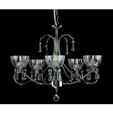 Impex Vincenza Pendant Light G9 W/Lead Crys. Gold