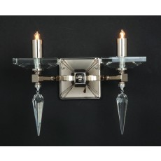 Impex Sorrento Wall Light Optic Glass/Spear G