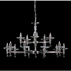 Impex San Marino 15 Light Pendant Light G9 Nickel