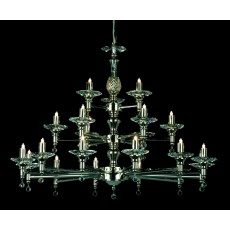 Impex San Marino 21 Light Pendant Light G9 Nickel