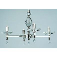 Impex Capri 4 Arm Pendant Light W/Optic Glass Pans