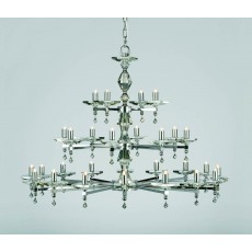 Impex Capri 28 Light Pendant Light Optic Glass Pans N