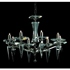 Impex Monza Modern Halogen Pendant Light Nickel