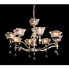 Impex Bresica Lead Crys.Halogen Pendant 8 Light Gold