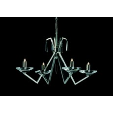 Impex Nice Geometric Halogen Pendant Light Chrome