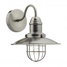 Dar Lighting Terrace Single Wall Bracket Antique Chrome